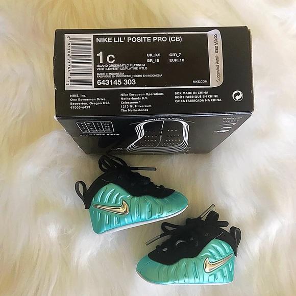 Nike Shoes 1c Baby Island Green